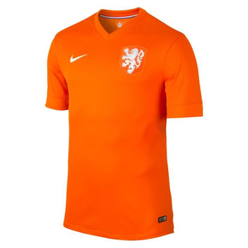 Netherlands Nike 2014 World Soccer Authentic Home Jersey - Orange - http://www.shareasale.com/m-pr.cfm?merchantID=7124&userID=1042934&productID=540996242 / Netherlands