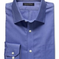 Banana Republic Classic Fit Non Iron Shirt Size M Tall - Medium blue