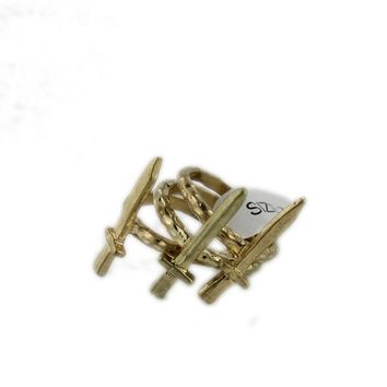 European and American jewelry Personality Retro Sword ring Female alloy Ring Weapons Hand jewelry Set of 3 Value GT