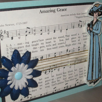 Amazing Grace Mother's Day, Birthday, Thinking of You or Everyday Card