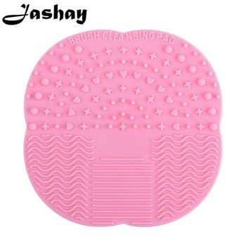 Jashay Brush Cleaning Mat Silicone Professional Pinceles Makeup Brush Comestic Tool Washing Scrubber Board Cleaner Mat Pad