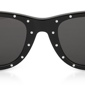 Saint Laurent SL 51-029 Black Studded Acetate Women's Sunglasses