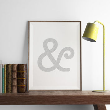 Ampersand Print | Office Wall Art | Art Printable | Printable Wall Art | PDF Download | Funny Art