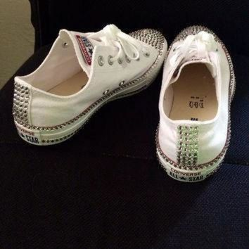 CREYON swarovski rhinestone converse chucks great gift or item for yourself high tops low t