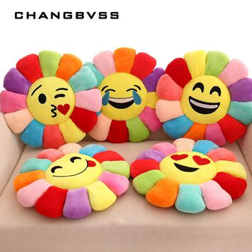 Creative 3d Flower Chair Seat Cushions Pillow Home Decor For Sofas, Fashion Emoji Pillow Cushion Pad Smiley Emoticon Cushion