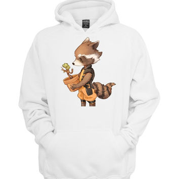 groot and rocket racoon best friend hoodie >>>  Size S M L XL XXL 3XL  <<<