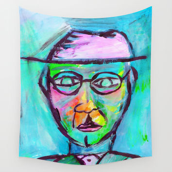 Man in color Wall Tapestry by Yuval Ozery