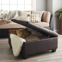 Vanderbilt 36-inch Square Hinged Storage Bench/ Ottoman | Overstock.com Shopping - The Best Deals on Ottomans