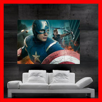 the AVENGERS marvel poster art oil Painting print 8 parts Poster Big Huge House hulk avengers avangers