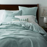 Belgian Linen Duvet Cover + Shams – Pale Harbor