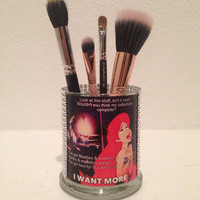 The Little Mermaid inspired makeup brush holder