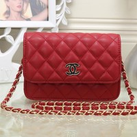 CHANEL Women Shopping Leather Metal Chain Crossbody Shoulder Bag