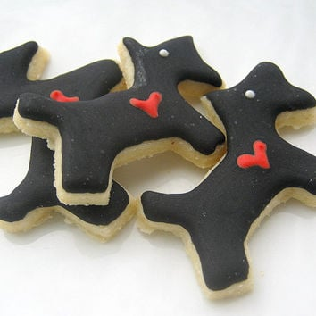 Scottie Dog Cookies Red Heart Mini Sugar Cookies All Natural