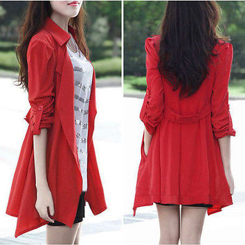 Casual Long Sleeve Button Jacket