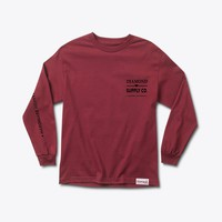 Hardware Lock Longsleeve Tee in Burgundy