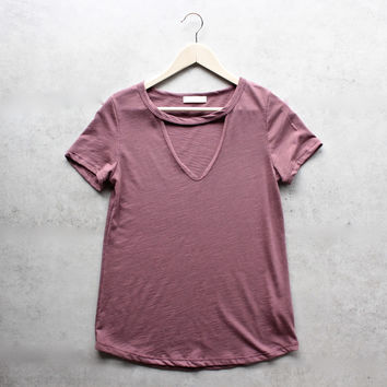 BSIC - slub choker v neck tee - more colors