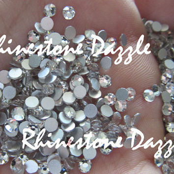 ss10 Non Hotfix Clear Crystal Flat back Rhinestones, 3mm Non Hotfix Clear Crystal Flat back Rhinestones