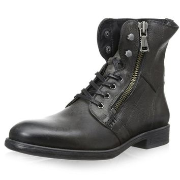 JOHN VARVATOS Bleeker Side Zip Antique Leather Boots
