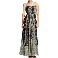 French Connection Womens Chiffon Floral Print Maxi Dress