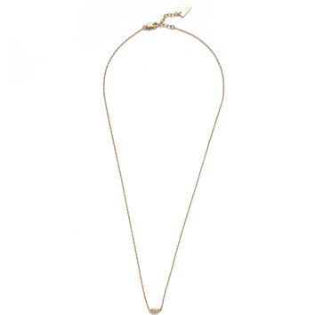 14K Gold Floating Bead Necklace
