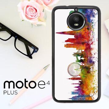 London Skyline Watercolor V0202 Motorola Moto E4 Plus Case