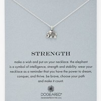 Women's Dogeared 'Reminder - Strength' Boxed Pendant Necklace - Silver