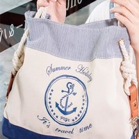 Navy Style Sweet Anchor Print Handbag from styleonline