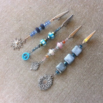 Wholesale - 4 Pieces - Beaded Roach Clips - Smoke Accessories - Glass Beaded - For Resale - Charm Clips - Smoke Shop - #214