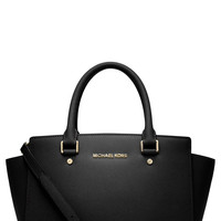 Michael Michael Kors Selma Medium Zip Top Satchel LAVELIQ