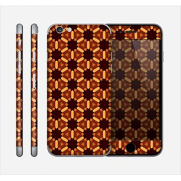 The Bright Orange Geometric Design Pattern Skin for the Apple iPhone 6
