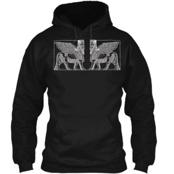 Anunnaki Ancient Alien Guardian  Pullover Hoodie 8 oz