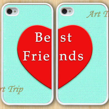 iphone 4 case, iphone 4s case -- Best Friends iPhone 4 Case, iphone case, Two Case Set