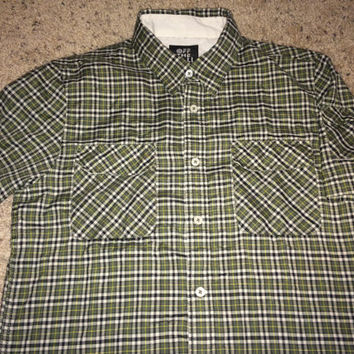 Sale!! Vintage VANS off the wall button down shirt street wear clothing