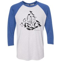 Jessie Jordan Collection - Penguins of the World Unisex Raglan