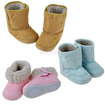 Baby Infant Boys Girls Toddler Winter Fur Shoes Snow Boots Warm 9-24M 19397 = 1745330372