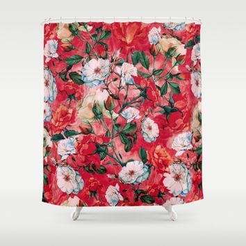 Rose Red Shower Curtain by RIZA PEKER