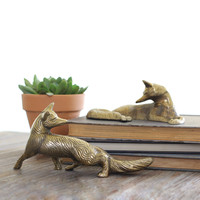 Secret Of The Fox Brass Figurine Set