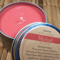 Archangel Michael Protection Candle Ask Guardian Angel Michael to Keep You Safe & Remove Fear