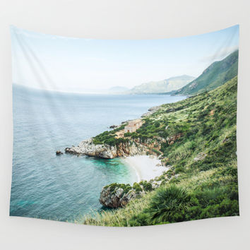 Beach Wall Tapestry by EwKaPhoto