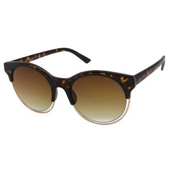Unisex Sunglasses with Floating Metal Rim