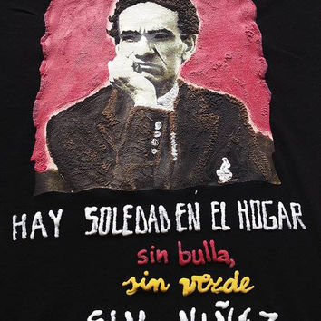 César Vallejo Camiseta Pintada Painted T-shirt