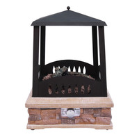 Landmann 22812 Grandview Outdoor Gas Fireplace - Black