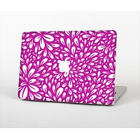 The Hot Pink & White Floral Sprout Skin Set for the Apple MacBook Pro 13""