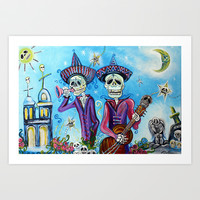 Secrets Of The Mariachi Art Print by Laura Barbosa Art