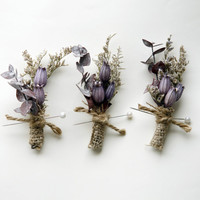 natural keepsake boutonniere 'willow garden' by whichgoose on Etsy