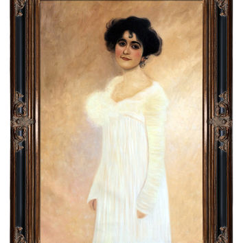Overstock Art Potrait of Serena Lederer by Gustav Klimt (Canvas)