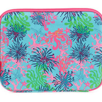 "Monogrammed Lilly Pulitzer ""Dirty Shirley"" iPad/Netbook Sleeve"