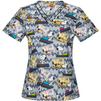Charlie Brown and Snoopy Scrub Top For Women - Back To School