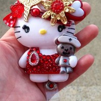Feeling Better Nurse Hello Casting Kitty and Teddy Reel with Pendant