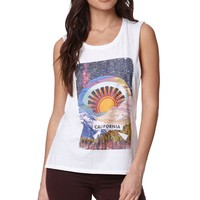 Element Cosmic Rays Muscle T-Shirt - Womens Tee - White